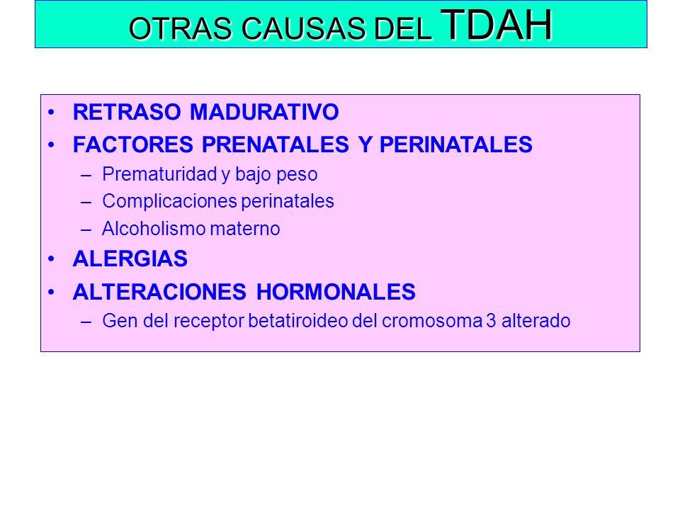 OTRAS CAUSAS DEL TDAH RETRASO MADURATIVO