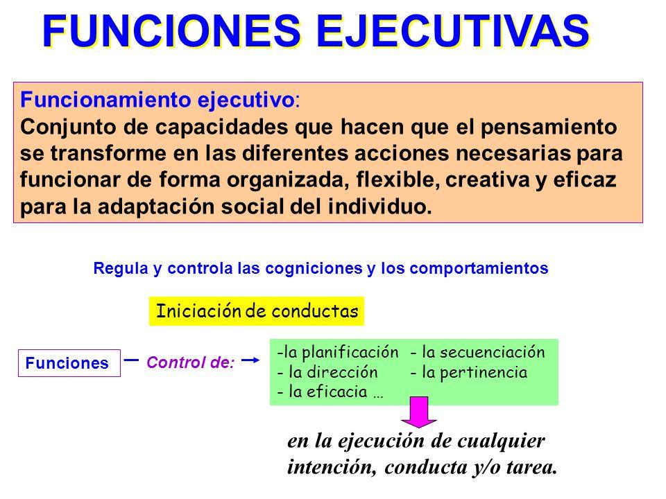 FUNCIONES EJECUTIVAS Funcionamiento ejecutivo: