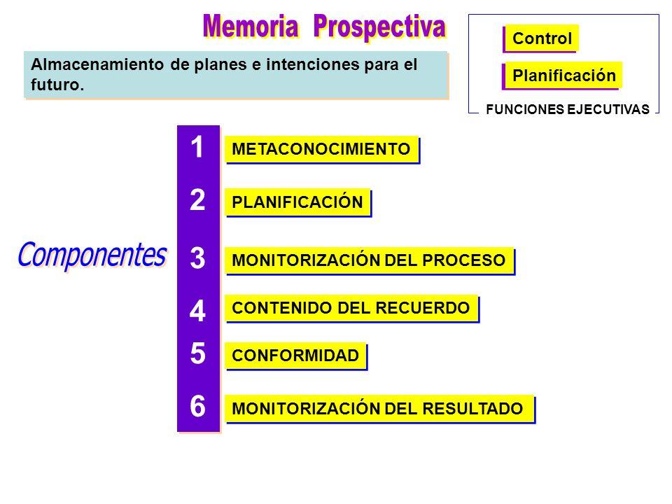 Memoria Prospectiva Componentes 1 2 3 4 5 6 Control