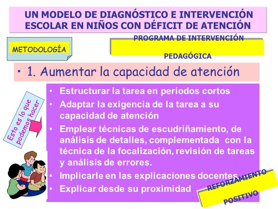 PROGRAMA DE INTERVENCIÓN PEDAGÓGICA REFORZAMIENTO POSITIVO