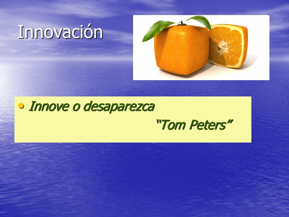 Innovación Innove o desaparezca Tom Peters