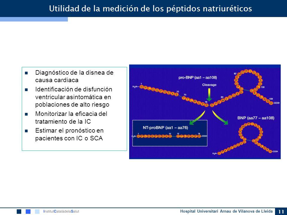 Utilidad de la medición de los péptidos natriuréticos