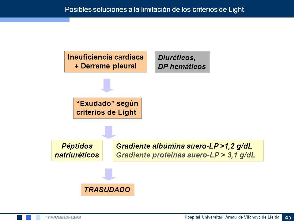 Posibles soluciones a la limitación de los criterios de Light