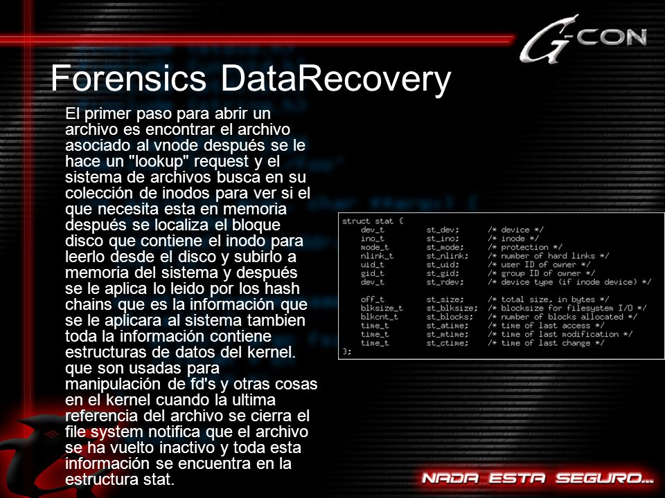Forensics DataRecovery
