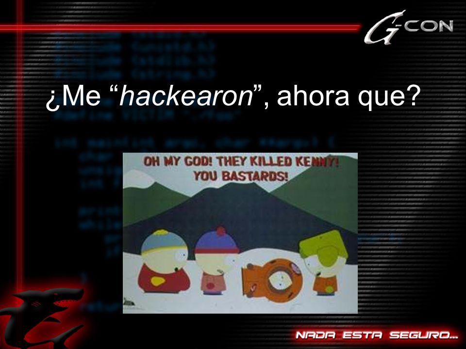 ¿Me hackearon , ahora que