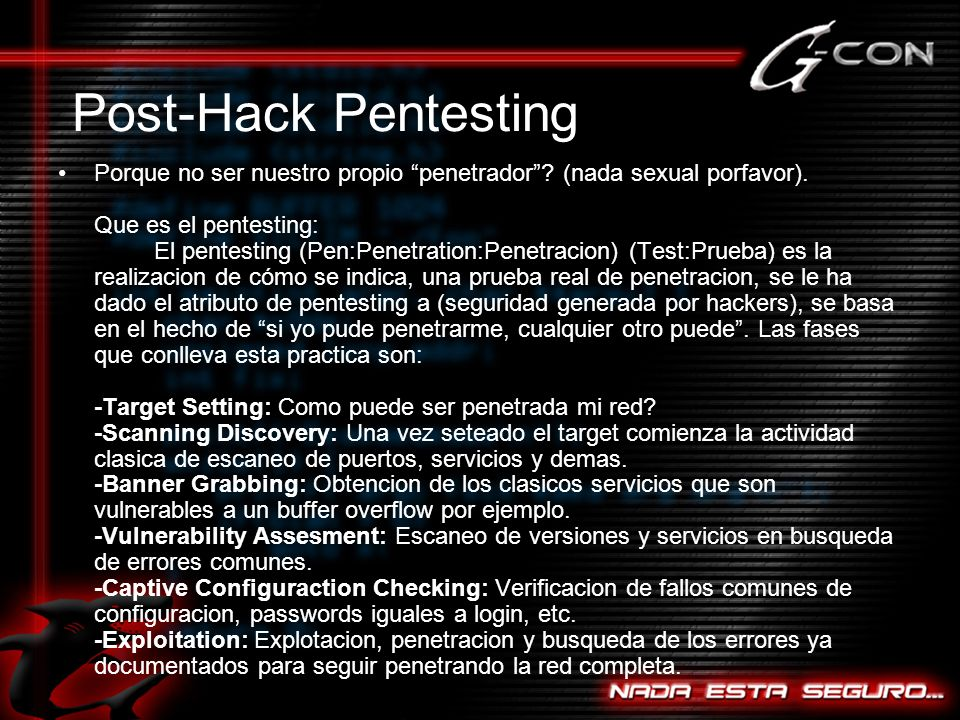 Post-Hack Pentesting