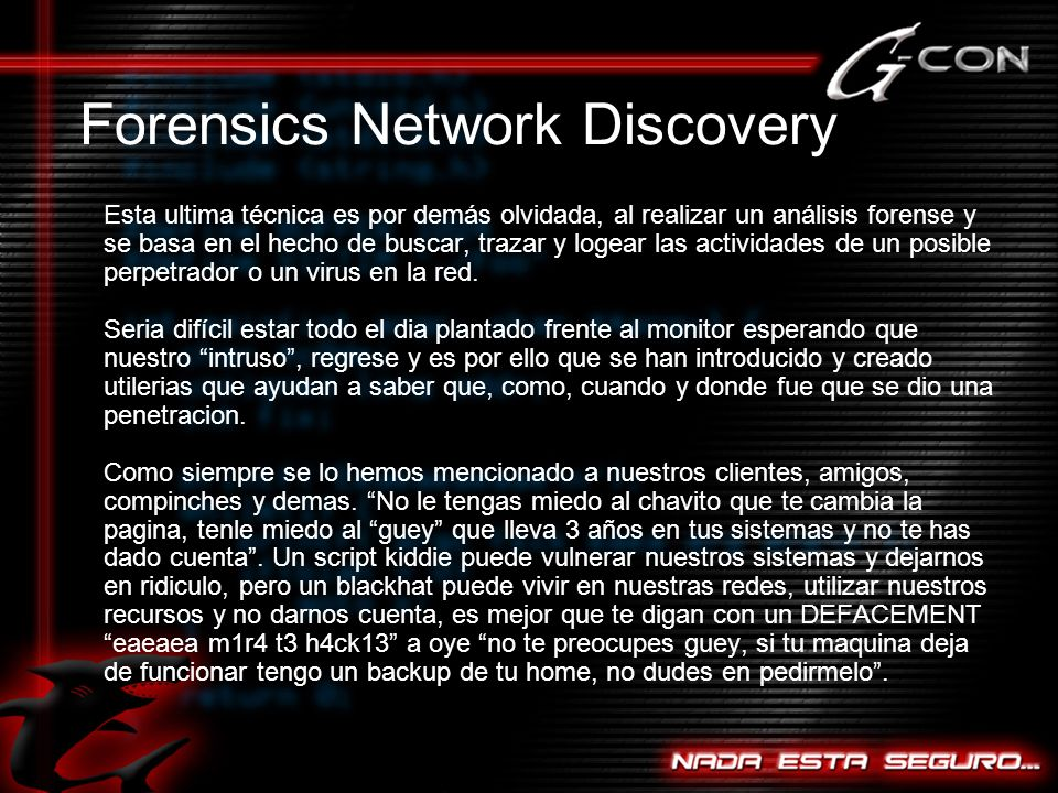 Forensics Network Discovery