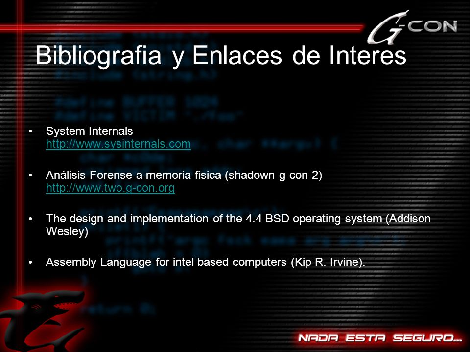 Bibliografia y Enlaces de Interes