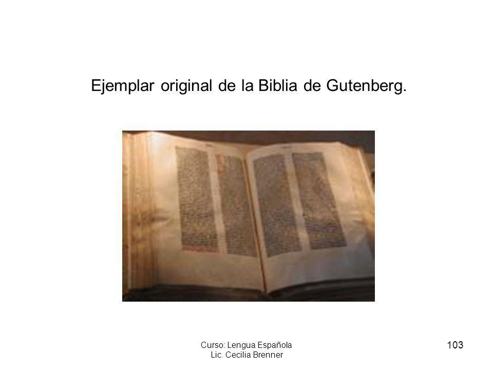 Ejemplar original de la Biblia de Gutenberg.