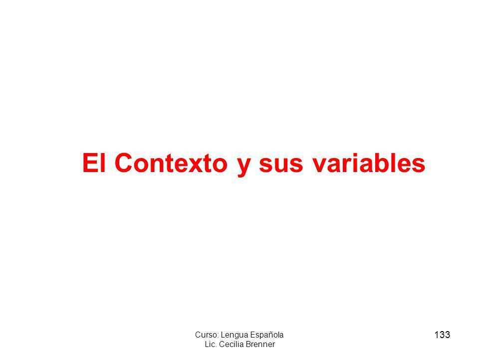 El Contexto y sus variables