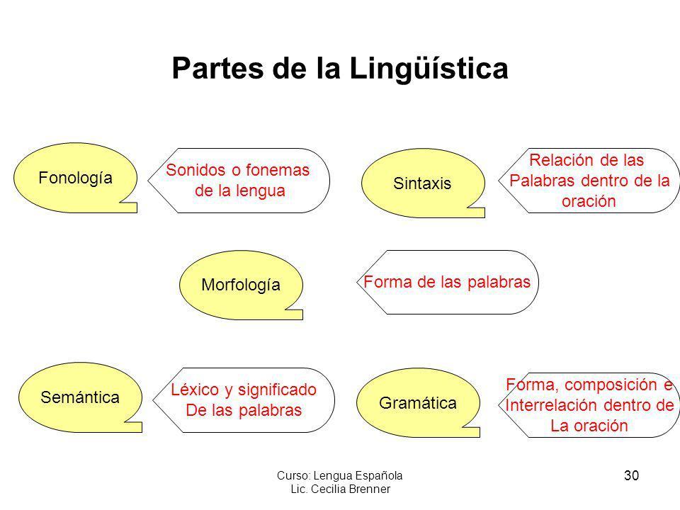 Partes de la Lingüística