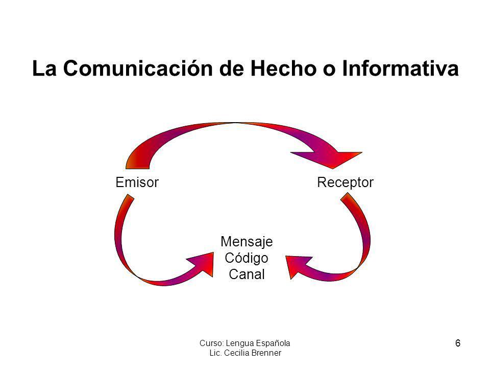 La Comunicación de Hecho o Informativa