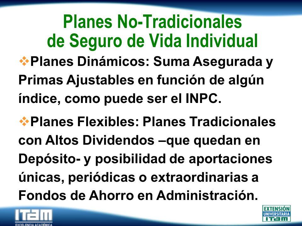 Planes No-Tradicionales de Seguro de Vida Individual