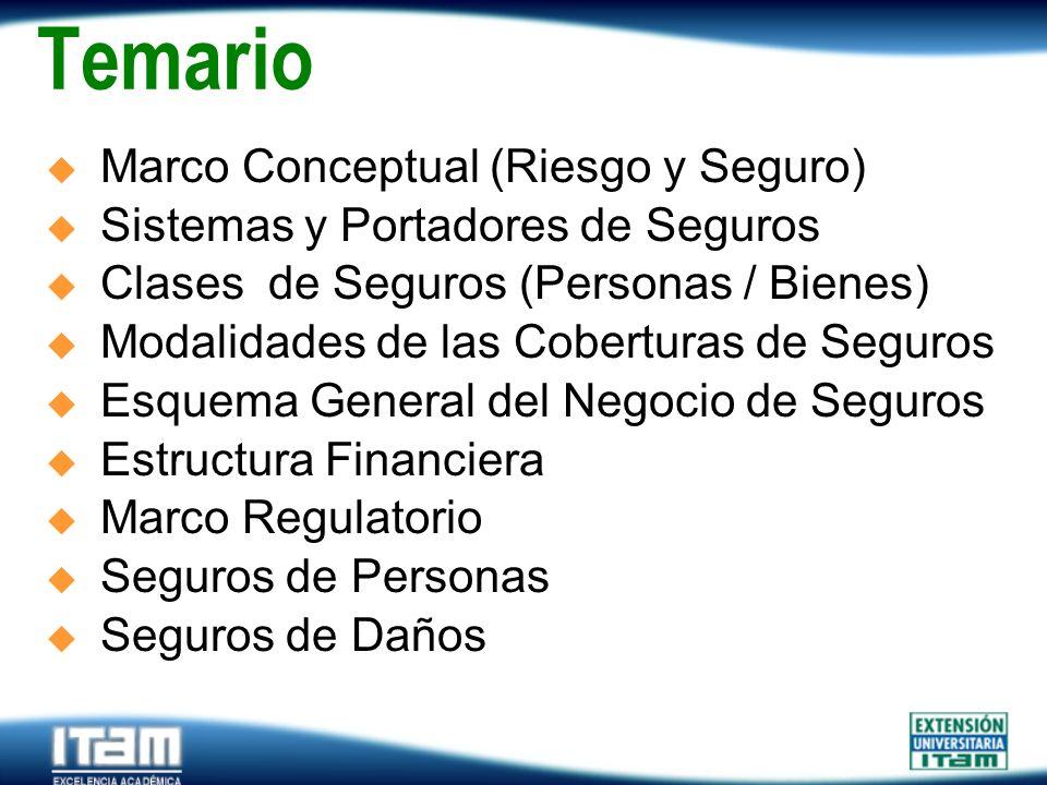 Temario Marco Conceptual (Riesgo y Seguro)