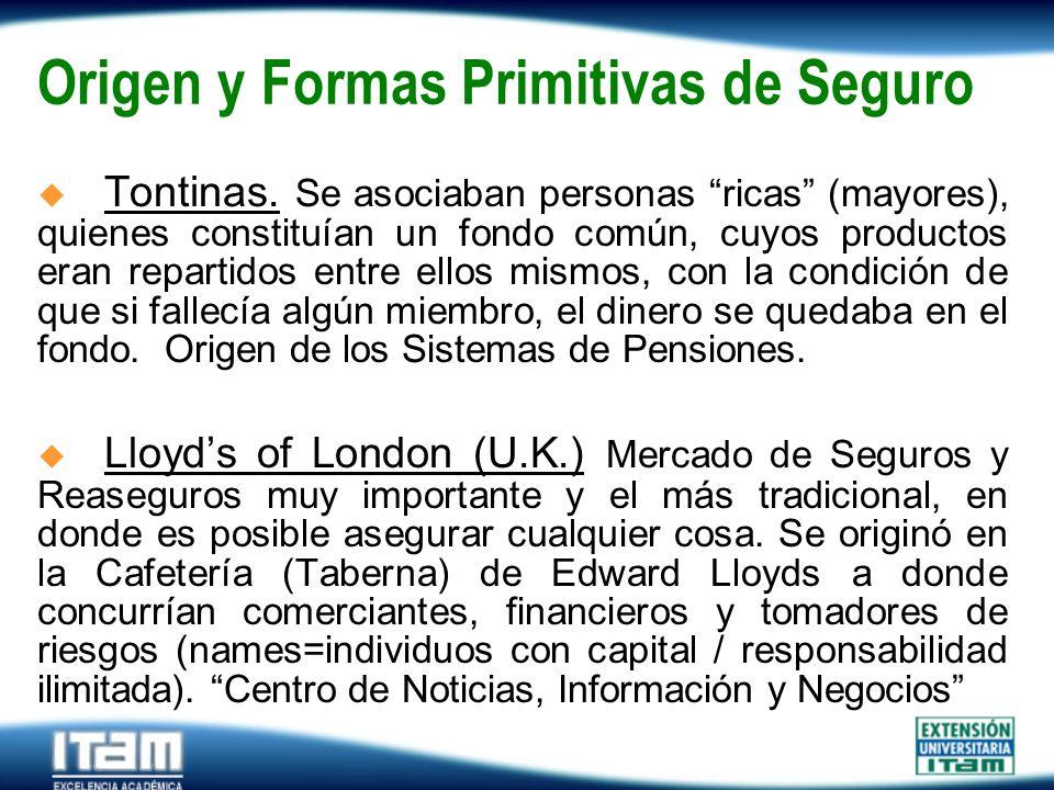 Origen y Formas Primitivas de Seguro