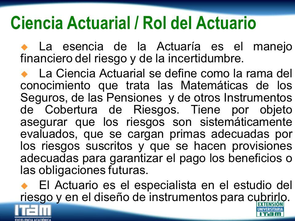Ciencia Actuarial / Rol del Actuario