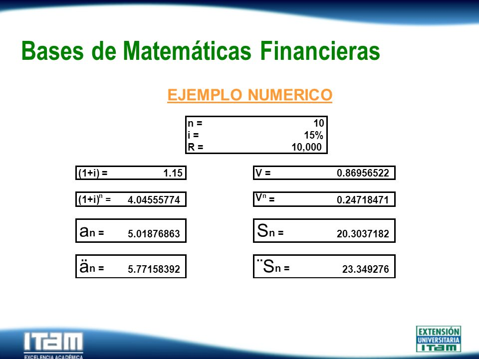 Bases de Matemáticas Financieras
