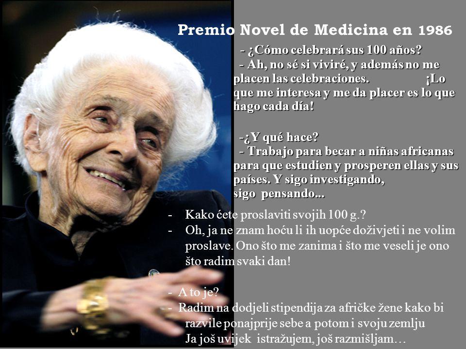 Premio Novel de Medicina en 1986