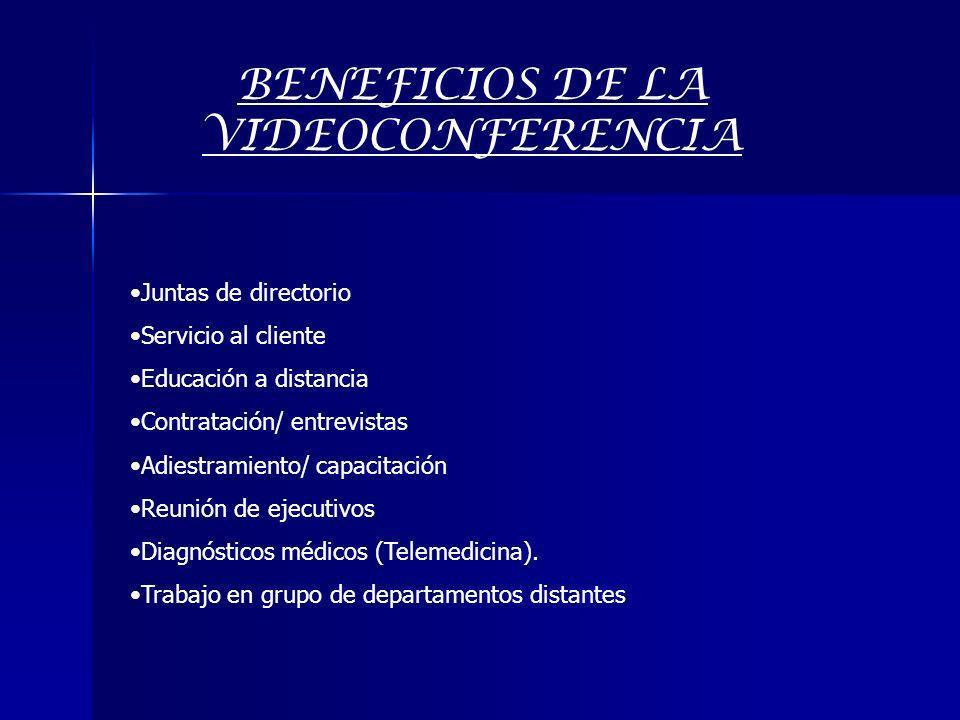 BENEFICIOS DE LA VIDEOCONFERENCIA