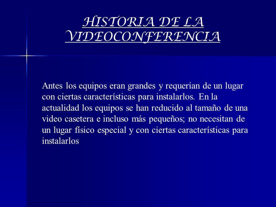 HISTORIA DE LA VIDEOCONFERENCIA