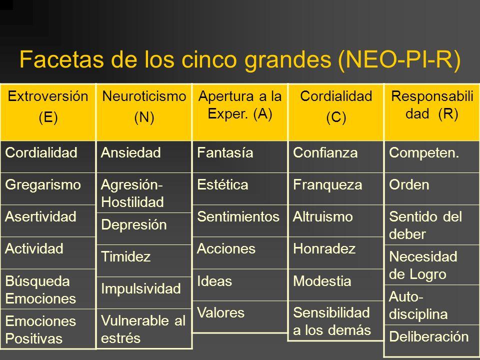 Facetas de los cinco grandes (NEO-PI-R)