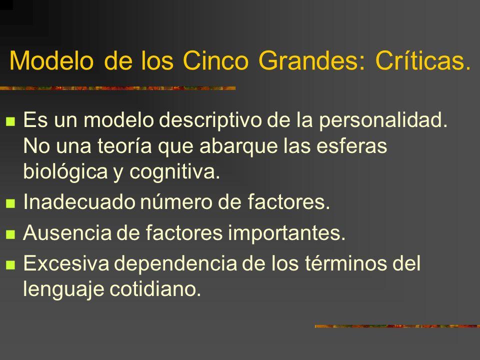 Modelo de los Cinco Grandes: Críticas.