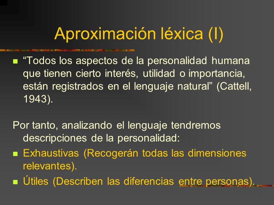 Aproximación léxica (I)