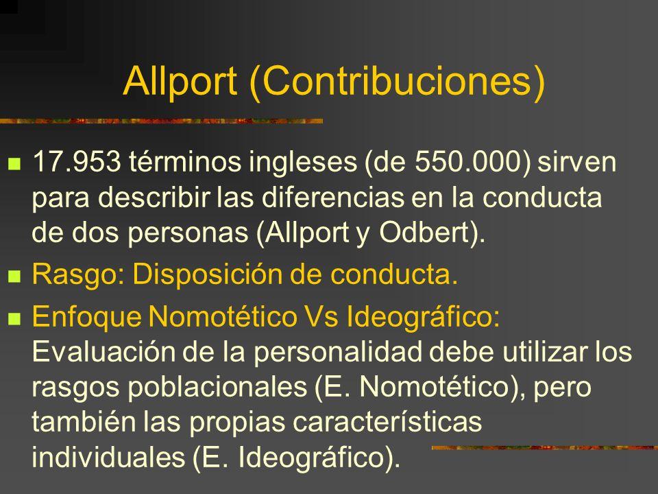 Allport (Contribuciones)