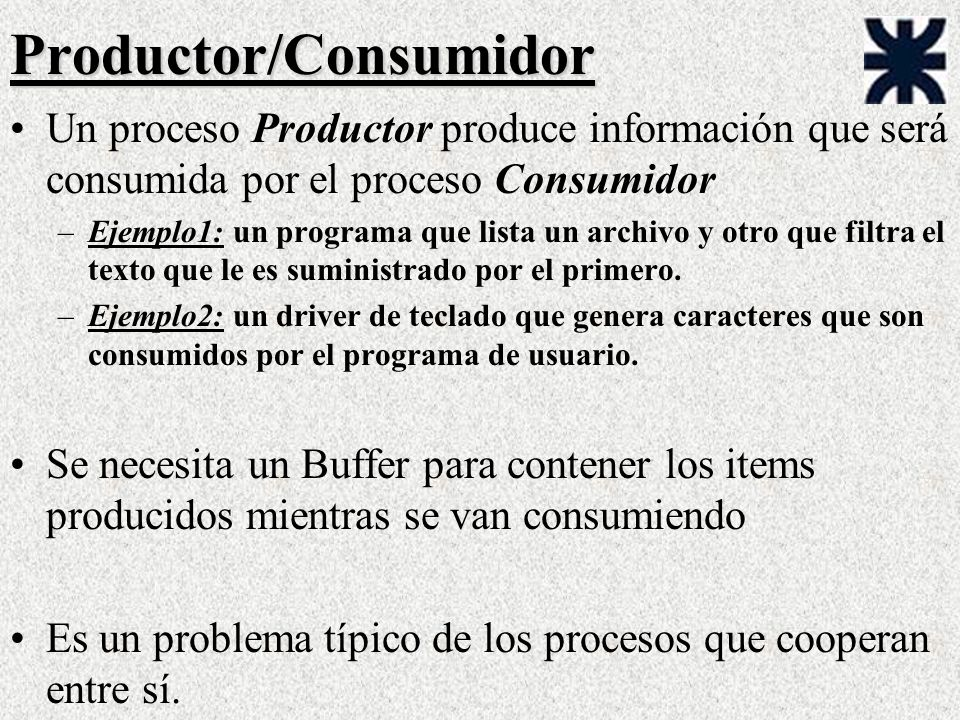 Productor/Consumidor