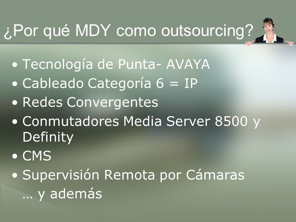 ¿Por qué MDY como outsourcing