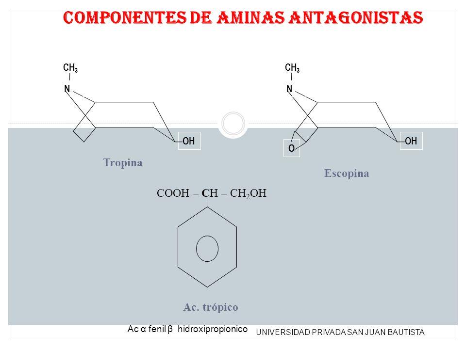 Componentes de aminas antagonistas