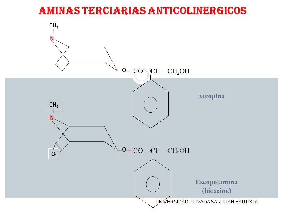 aminas terciarias anticolinergicos