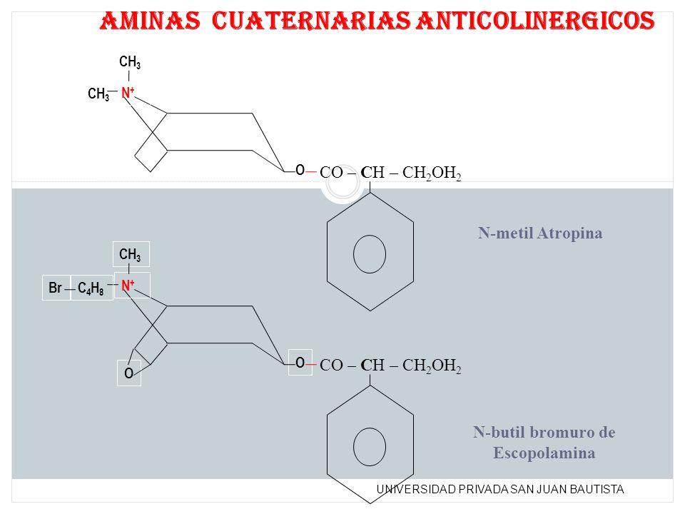 aminas cuaternarias anticolinergicos
