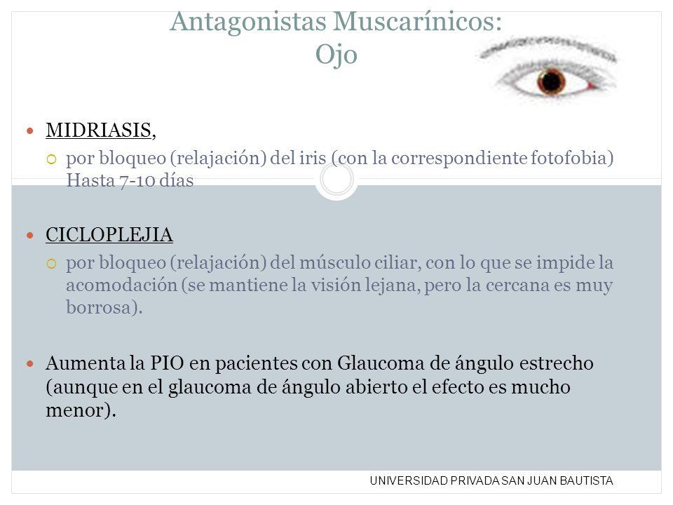 Antagonistas Muscarínicos: Ojo