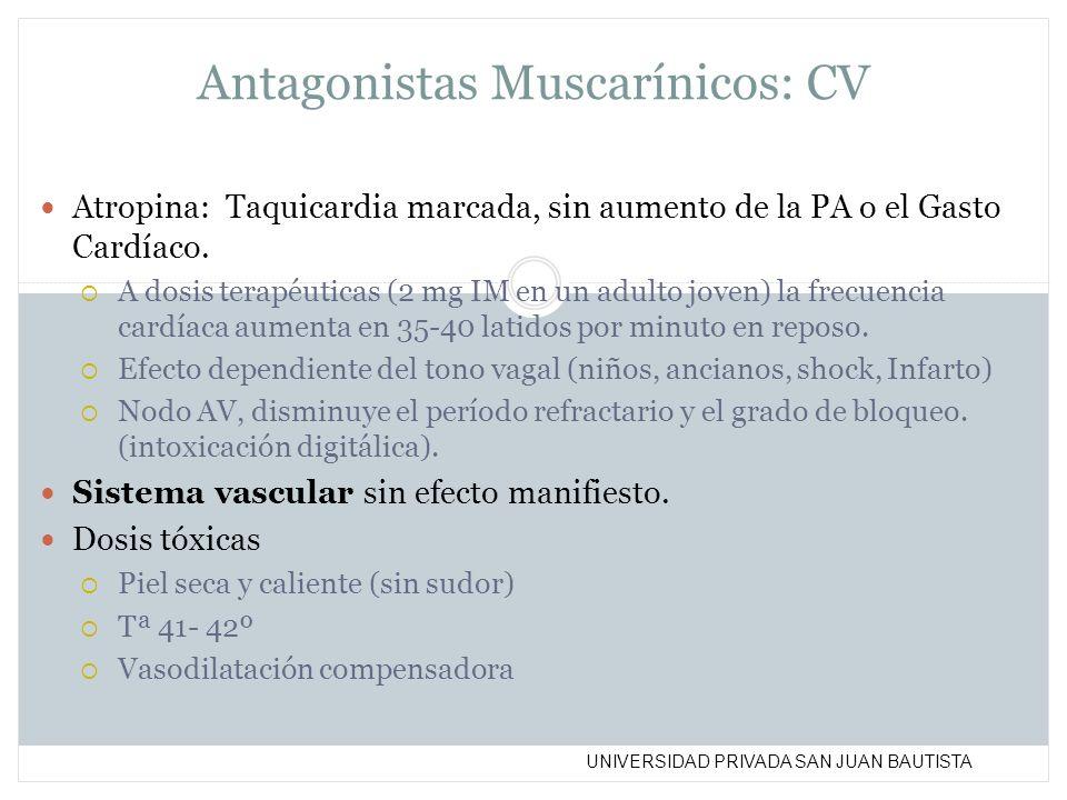 Antagonistas Muscarínicos: CV