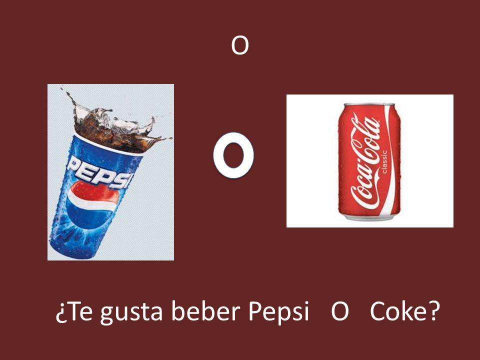 ¿Te gusta beber Pepsi O Coke