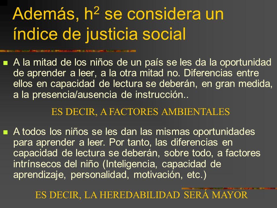 Además, h2 se considera un índice de justicia social