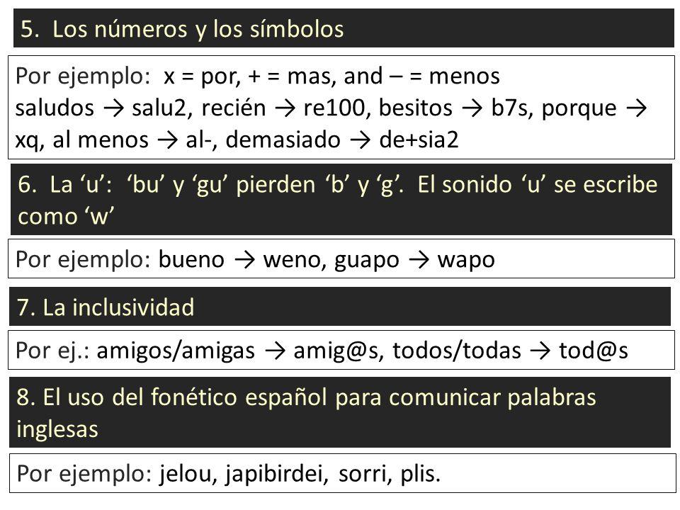 5. Los números y los símbolos