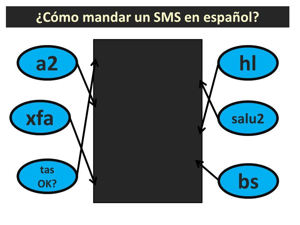¿Cómo mandar un SMS en español