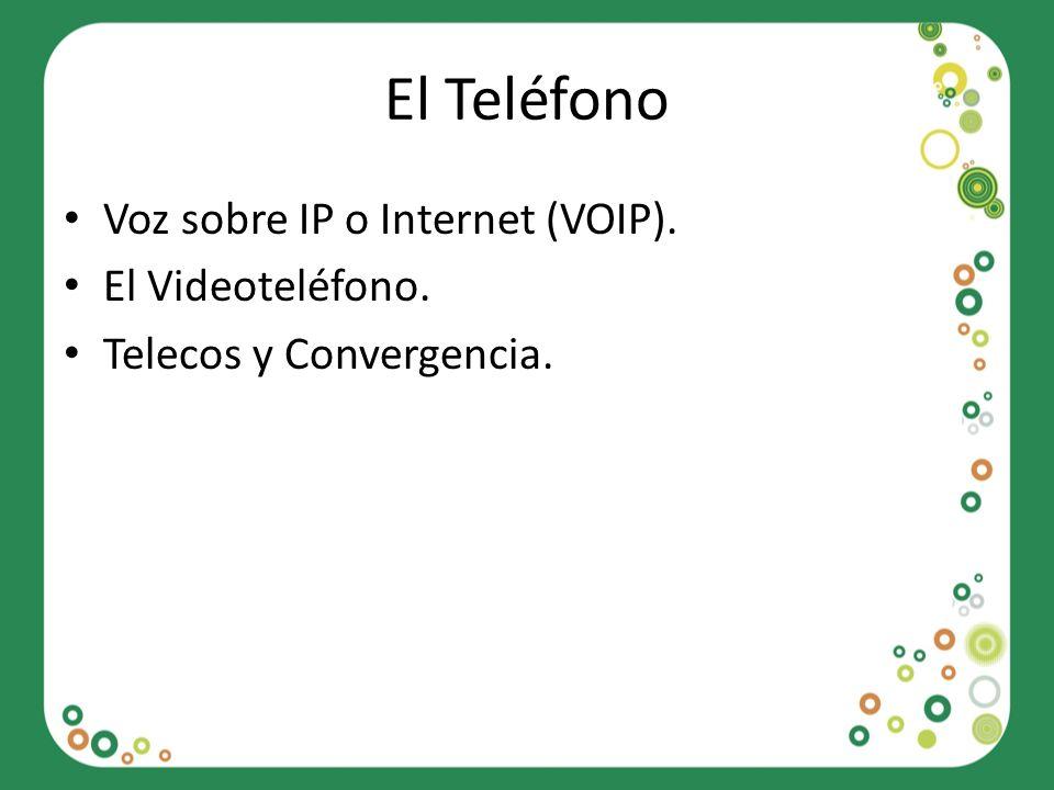 El Teléfono Voz sobre IP o Internet (VOIP). El Videoteléfono.
