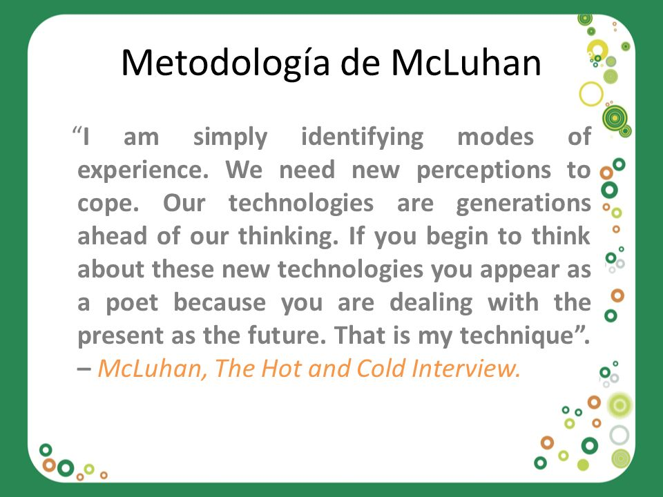 Metodología de McLuhan