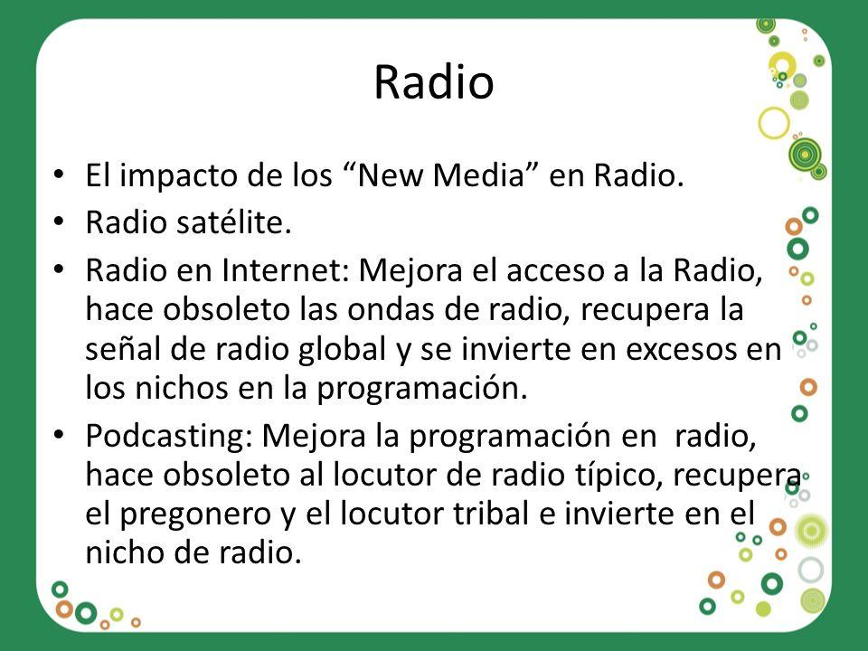 Radio El impacto de los New Media en Radio. Radio satélite.