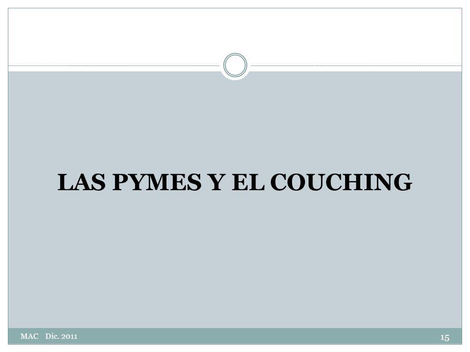 LAS PYMES Y EL COUCHING MAC Dic. 2011