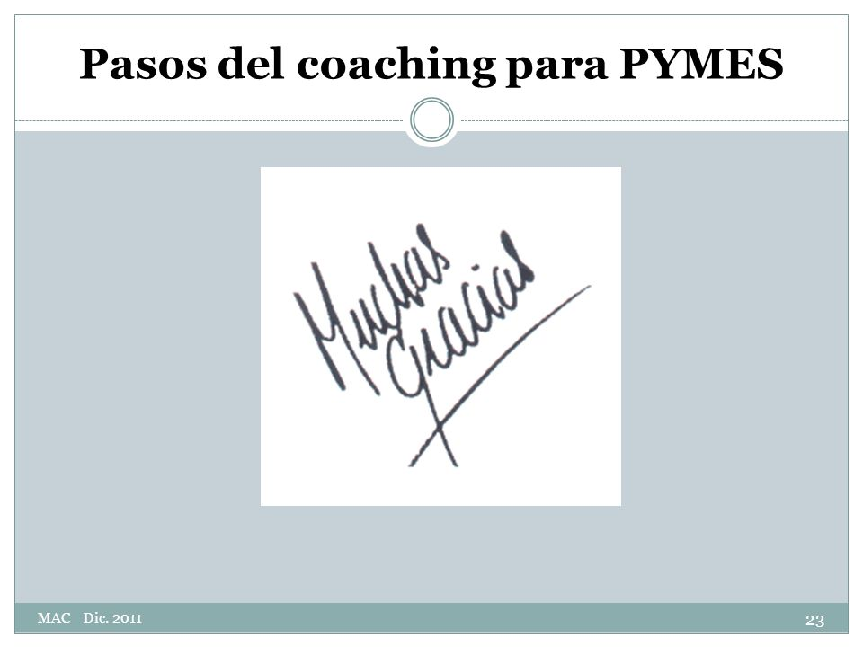 Pasos del coaching para PYMES