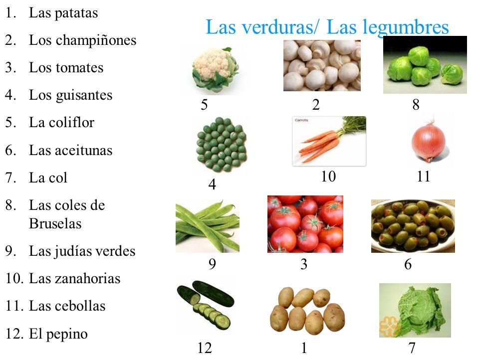 Las verduras/ Las legumbres