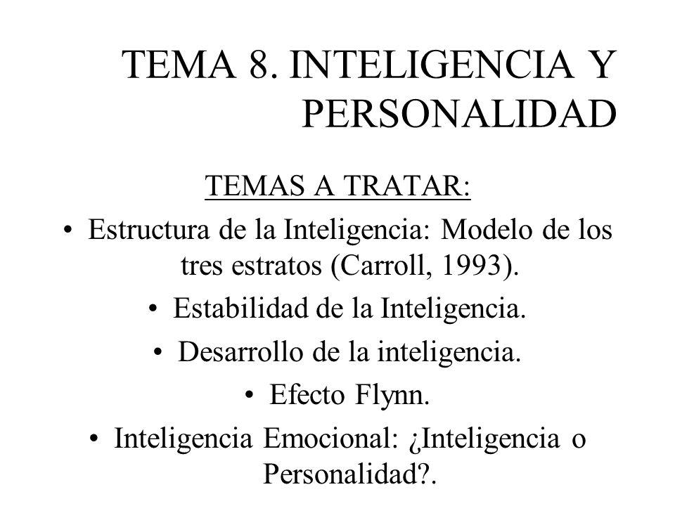 TEMA 8. INTELIGENCIA Y PERSONALIDAD