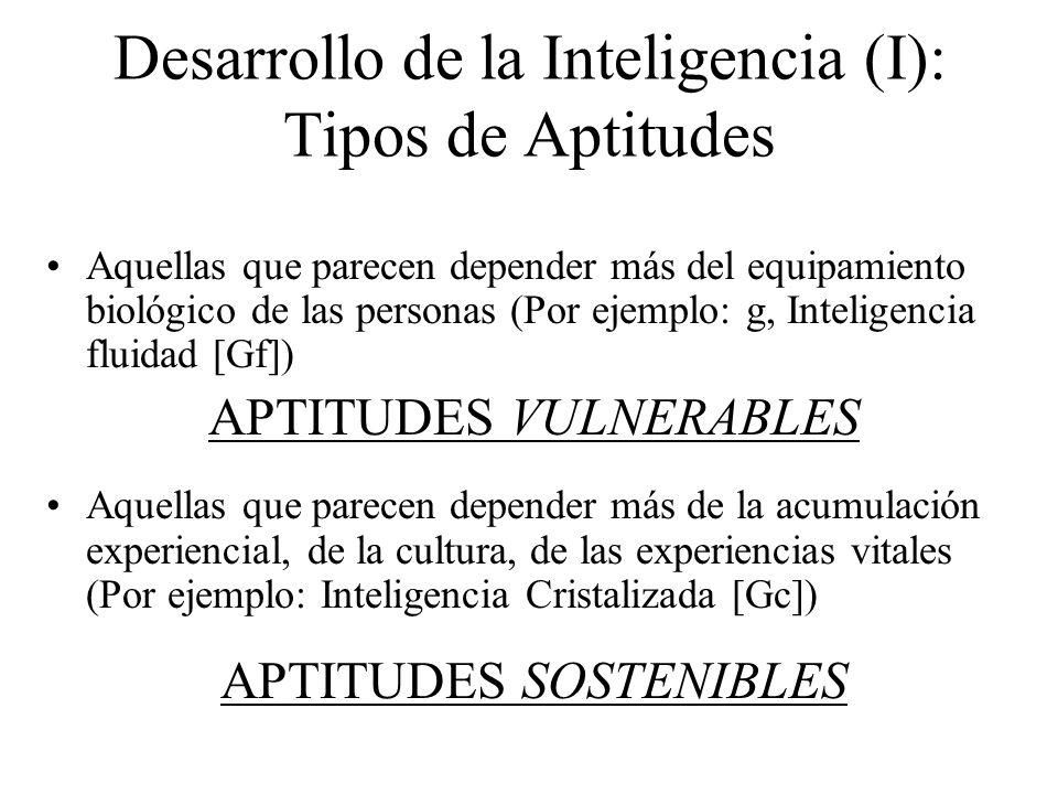Desarrollo de la Inteligencia (I): Tipos de Aptitudes