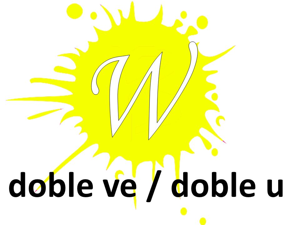 W doble ve / doble u