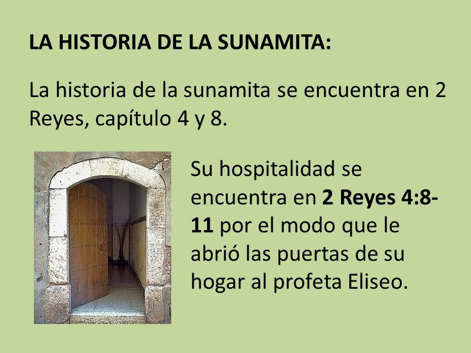 LA HISTORIA DE LA SUNAMITA: