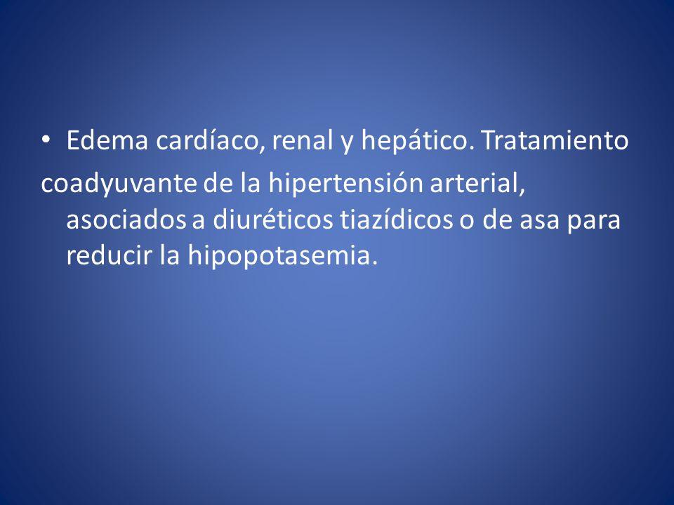 Edema cardíaco, renal y hepático. Tratamiento